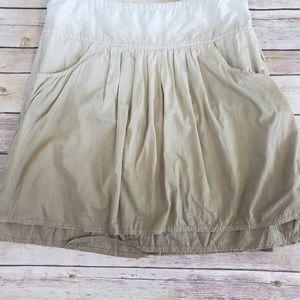 Athleta whisper skirt ombre brown lined pockets